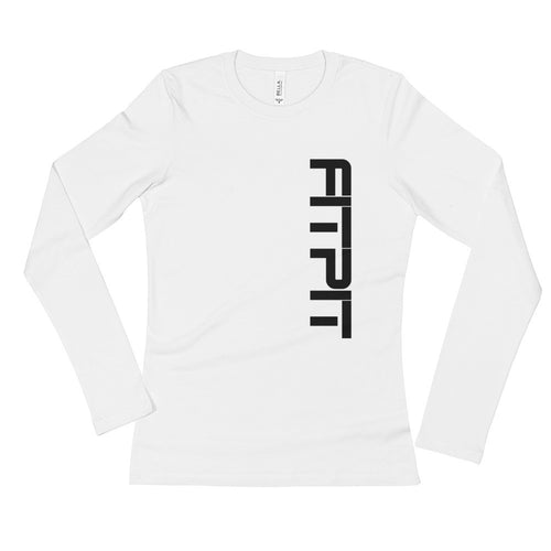FITPIT Front/Back Paws w/Pink Ladies' Long Sleeve T-Shirt