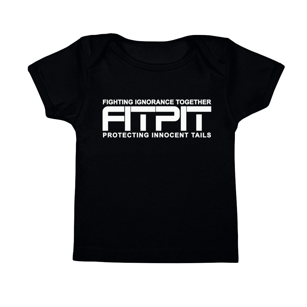 FITPIT White print Infant Tee