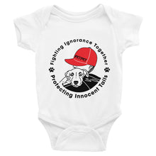 FITPITpup Front Black and Red Print Infant Bodysuit