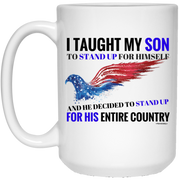 My Son Stands For His Country!