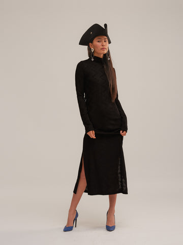 Omer Dress in Black