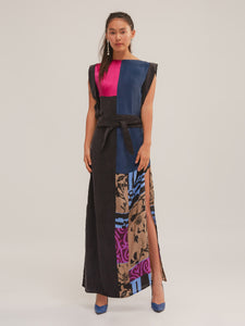 Amelia Dress in Patchwork Mix