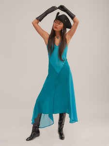 Tex Dress in Blue/Teal