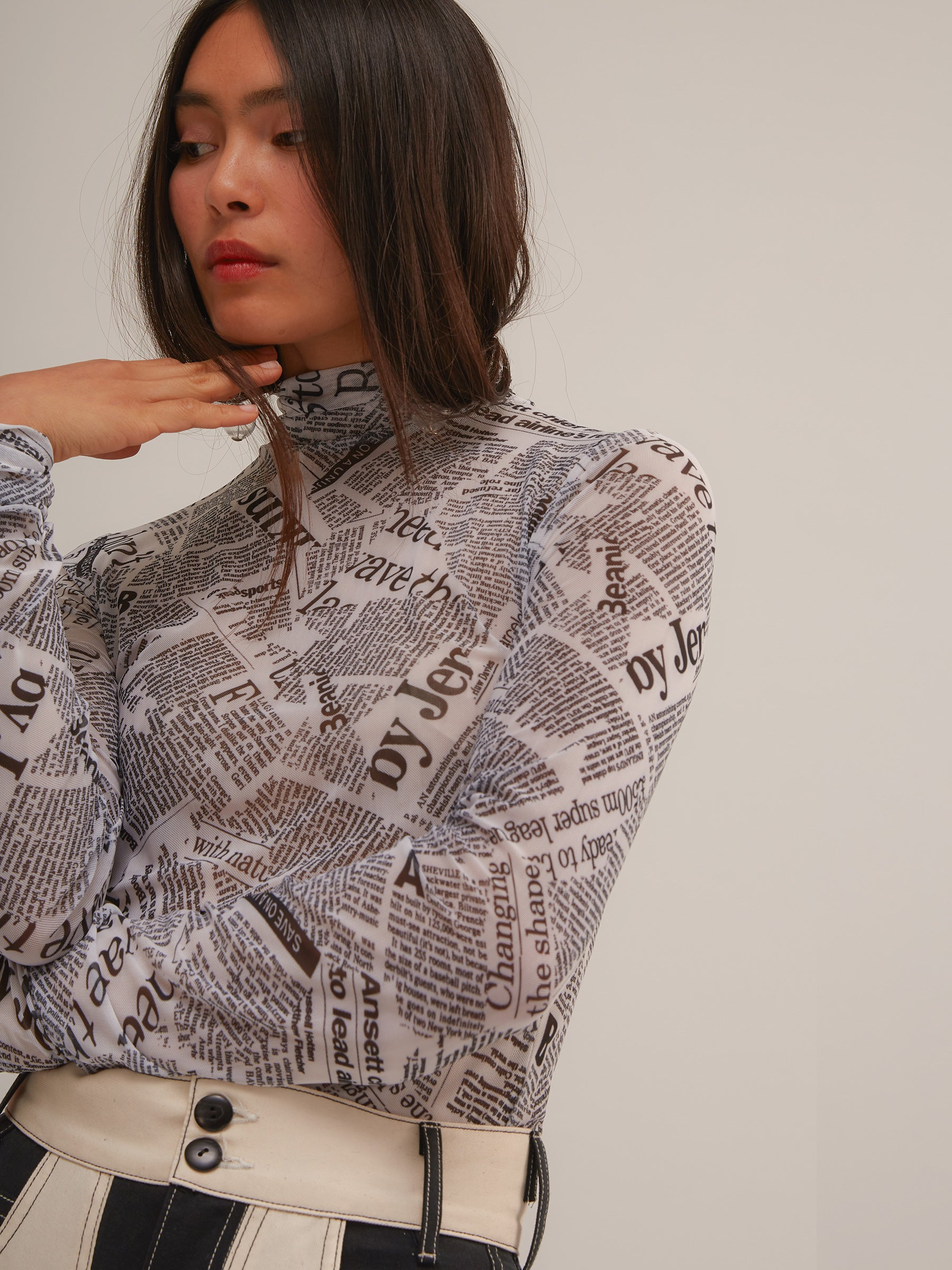 Archive Chapelle Turtleneck in Newsprint