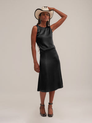 Ramblas Dress in Black