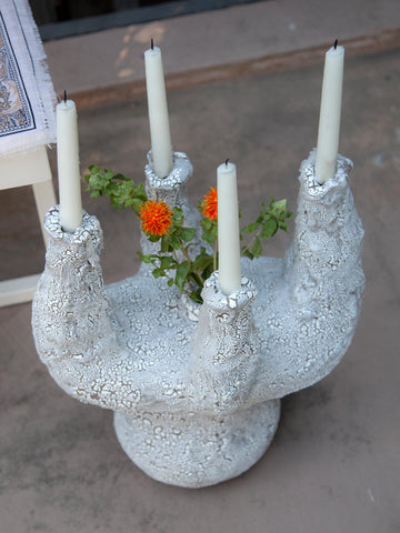 Crackle Candelabra  by Amelia Lockwood