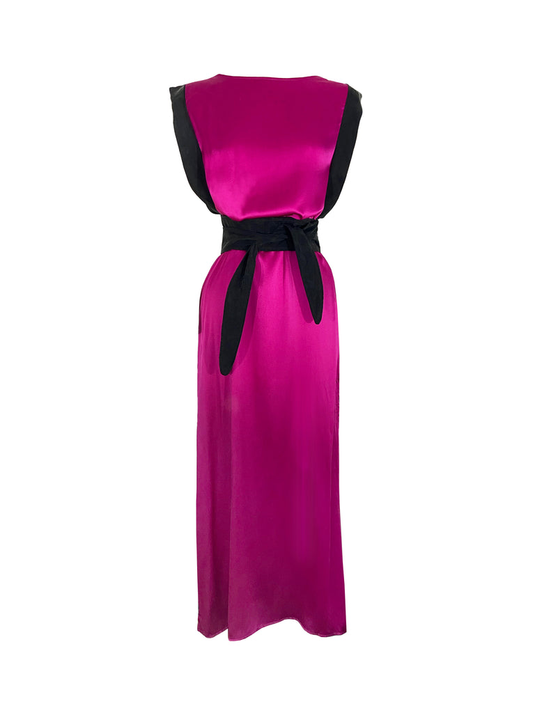 Amelia Duo Dress in Flamingo/Black