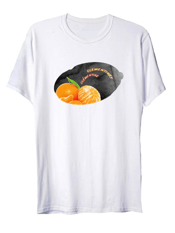 Unisex Fruit Tee in Clementine