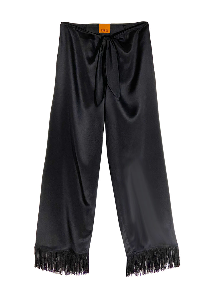 Dolores Fringe Pant in Black