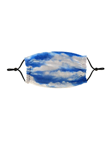 Fashion printed cloud mask