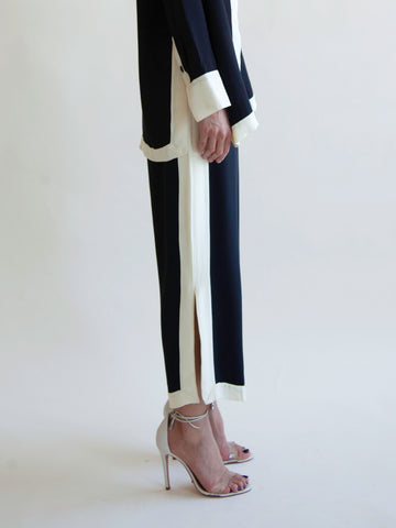 Porto Pant in Black/Buttercream