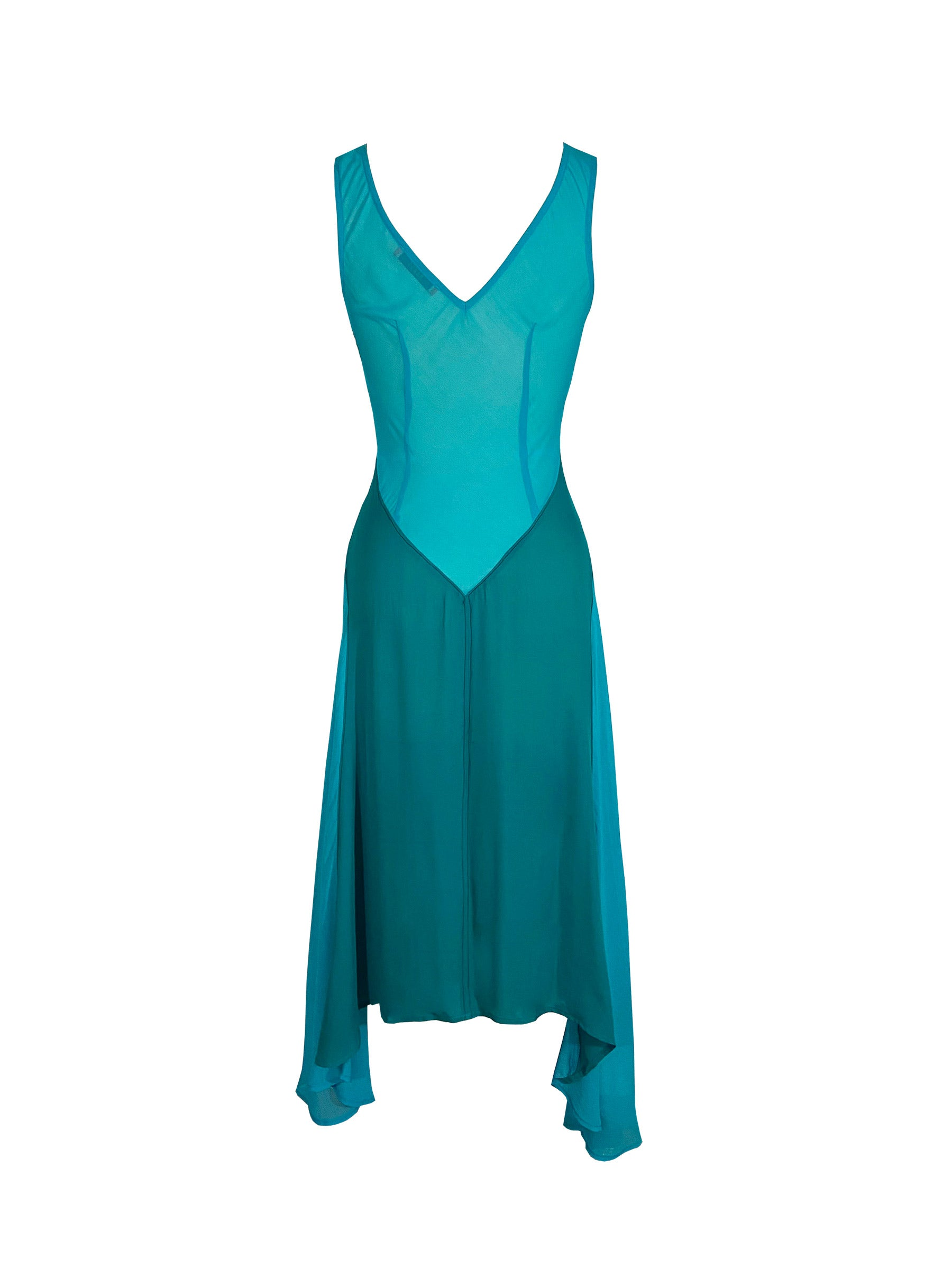 Archive Tex Silk Dress in Blue/Teal