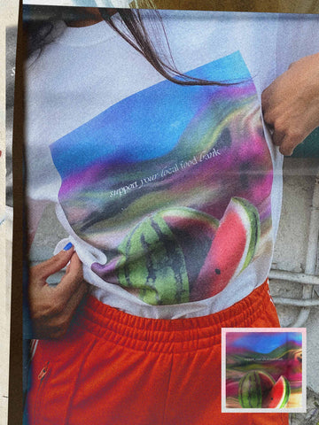 Unisex Fruit Tee in Watermelon