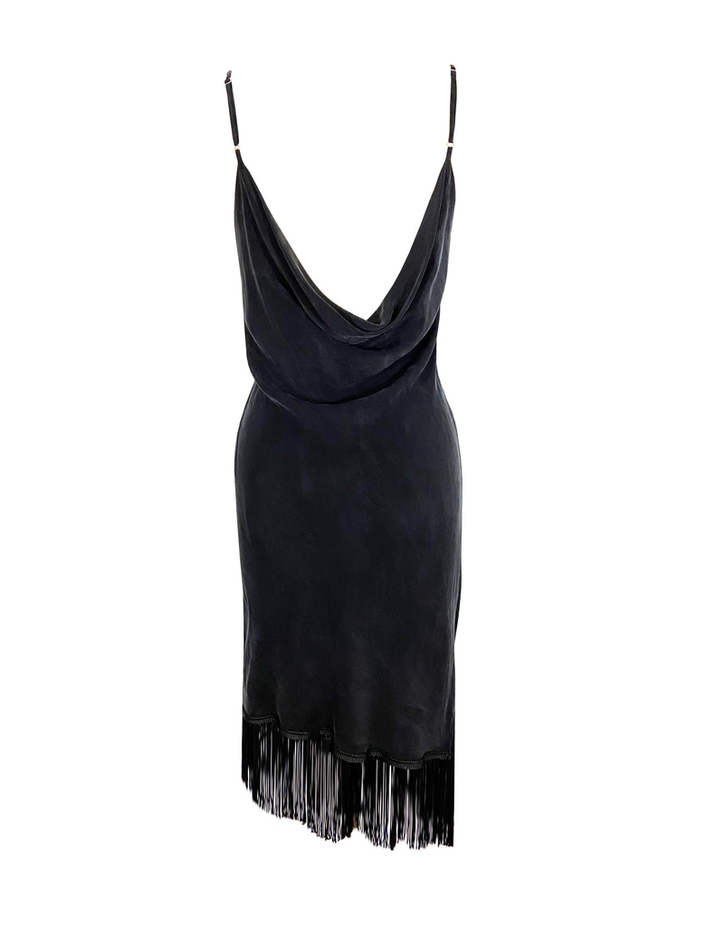 Archive ZouZou Fringe Silk Dress