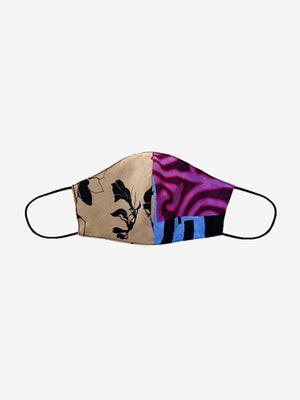 Deadstock Silk Mask in Patchwork Print