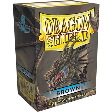Dragon Shields: (100) Brown