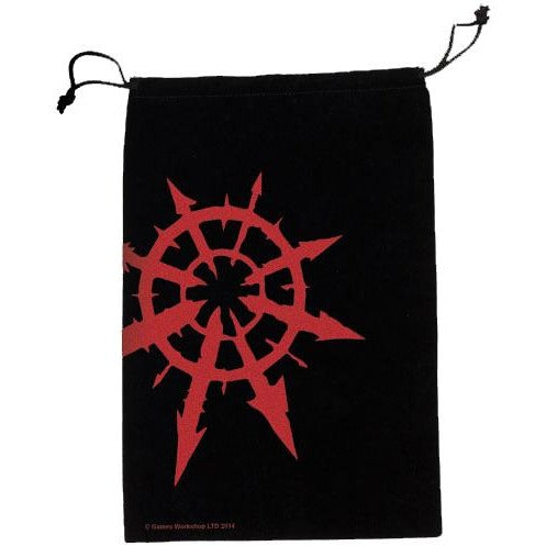 40k Chaos Star Dice Bag