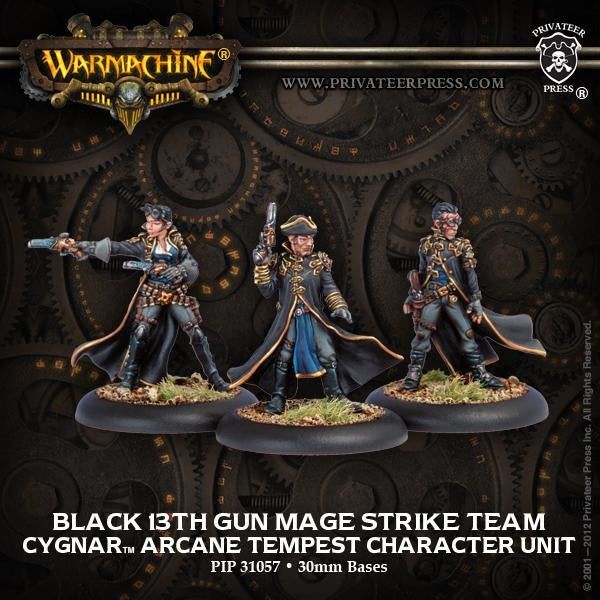Warmachine: Cygnar Black 13th Gun Mage Strike Team Arcane Tempest Character Unit