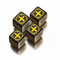 Antique Fudge Dice Set Black/Yellow (4)