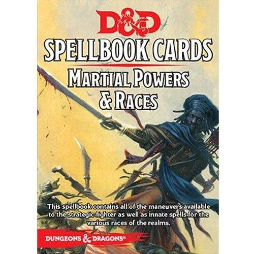 Dungeons and Dragons RPG: Martial Powers and Races Deck (40 cards)