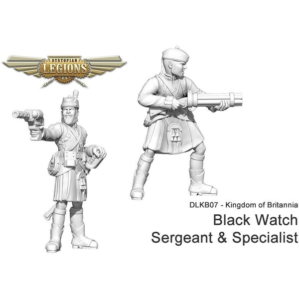 Dystopian Legions: Kingdom of Britannia Black Watch Sergeant and Specialist