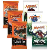 Magic the Gathering Bundle: 3 X Dragons of Tarkir and 3 X Battle for Zendikar Booster Packs