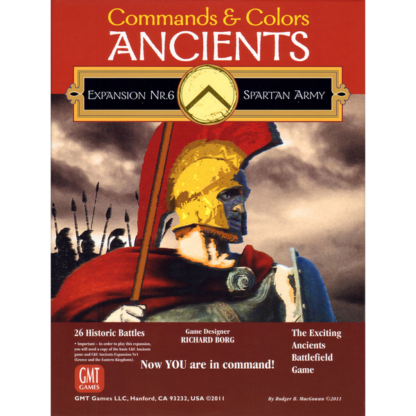 Commands and Colors: Ancients Expansion #6 - The Spartan Army