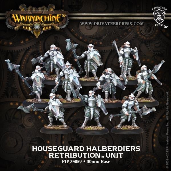 Warmachine: Retribution of Scyrah Houseguard Halberdiers Unit