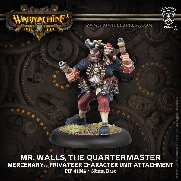 Warmachine: Mercenaries Mr. Walls, the Quartermaster Privateer Character Unit Attachment