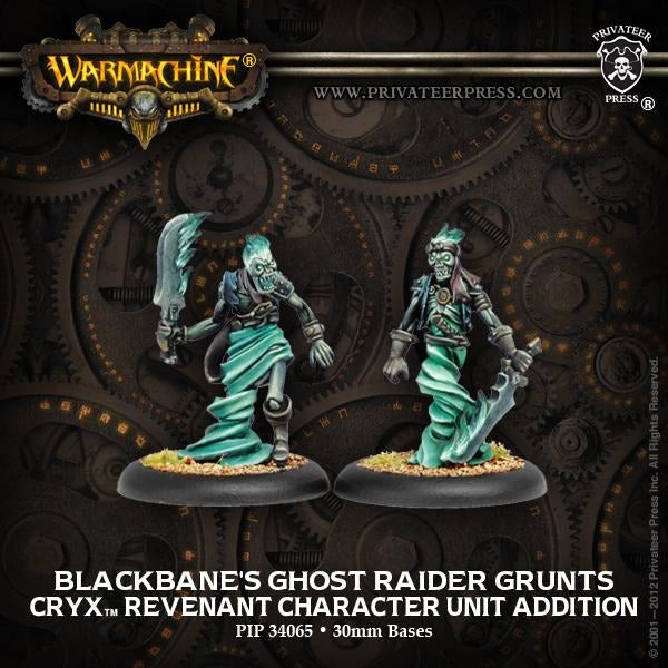 Warmachine: Cryx Blackbanes Ghose Raiders Revenant Character Unit (2)