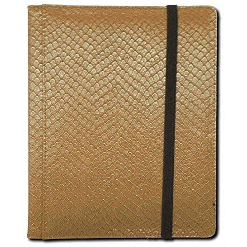 Dragon Hide 4 Pocket Binder Gold
