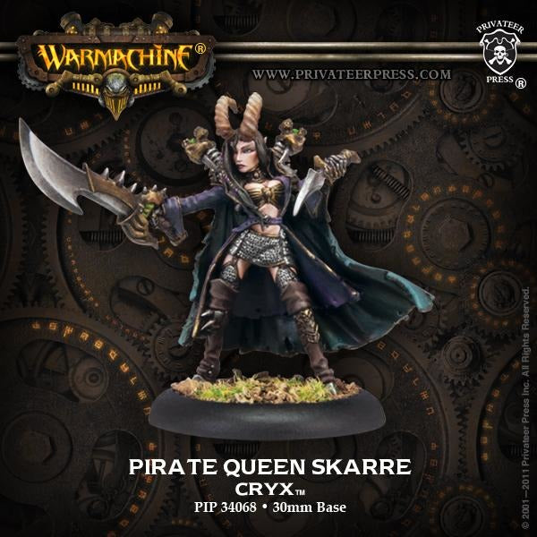 Warmachine: Cryx Pirate Queen Skarre Warcaster