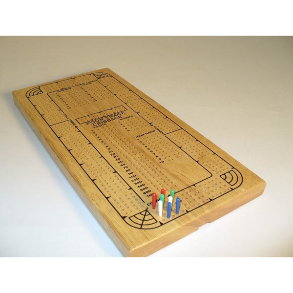Cribbage: 4-Player Oak Metal Pegs