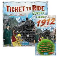 Ticket To Ride Bundle: Ticket to Ride Europe Plus Europa 1912 Expansion