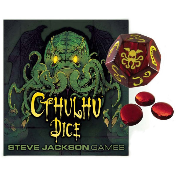 Cthulhu Dice: Red With Yellow Ink