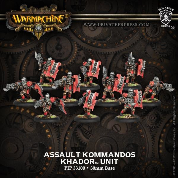 Warmachine: Khador Assault Kommandos Unit
