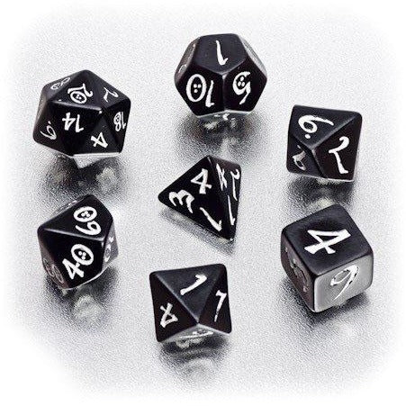 Classic RPG Dice Set Black/White (7)