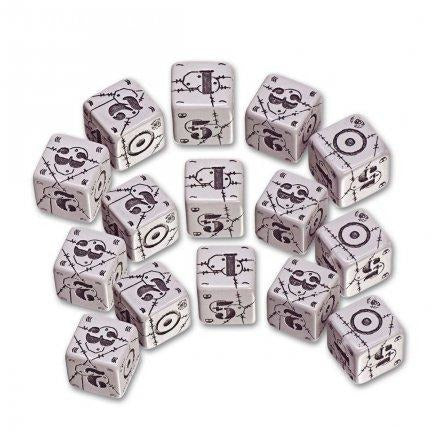 Battle Dice Set United Kingdom D6 Gray/Black (5)