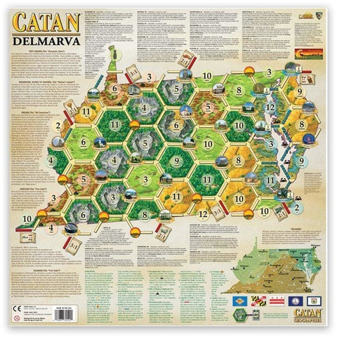 Settlers of Catan Geographies: U.S.A. - West Virginia - Virginia - Maryland - Delaware (6)