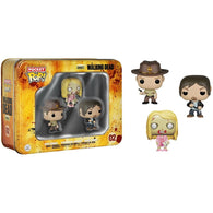 Pocket POP! Walking Dead 3 Pack Tin - Daryl, Sheriff & Teddy Bear Walker