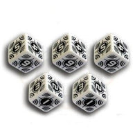 Battle Dice Set Sniper D6 White/Black (5)