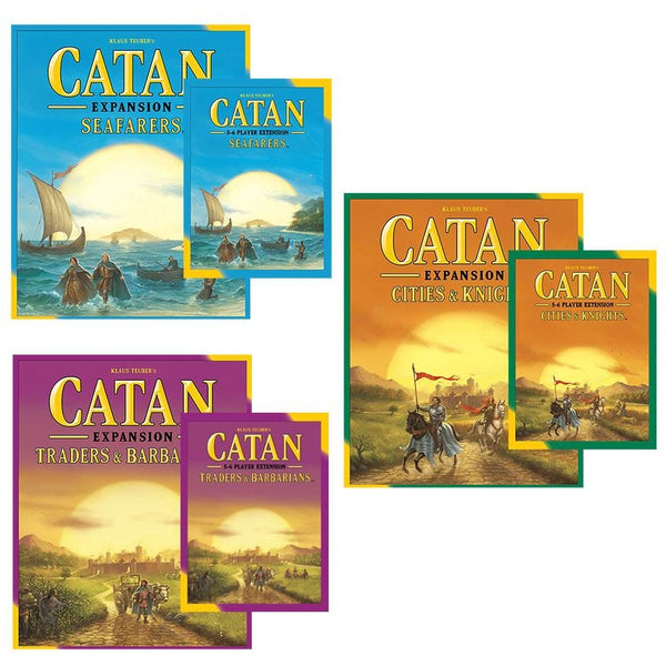Catan 5th Edition Bundle: Seafarers / Cities And Knights / Traders And Barbarians Plus 5-6 Player Expansions