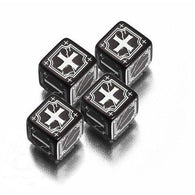 Antique Fudge Dice Set Black/White (4)