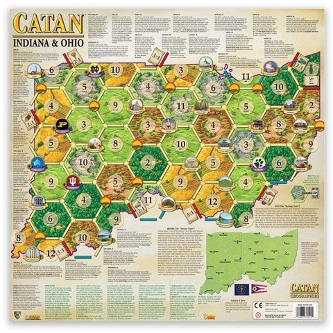 Settlers of Catan Geographies: U.S.A. - Indiana - Ohio (6)