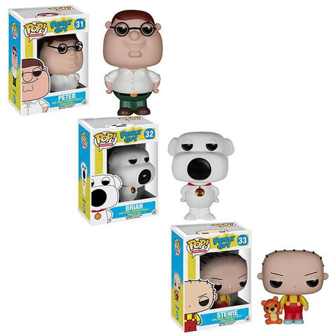 POP! Family Guy Bundle: Peter Brian and Stewie