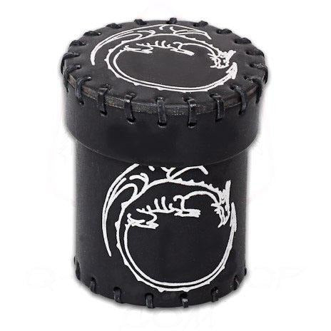 Dragon Leather Dice Cup Black