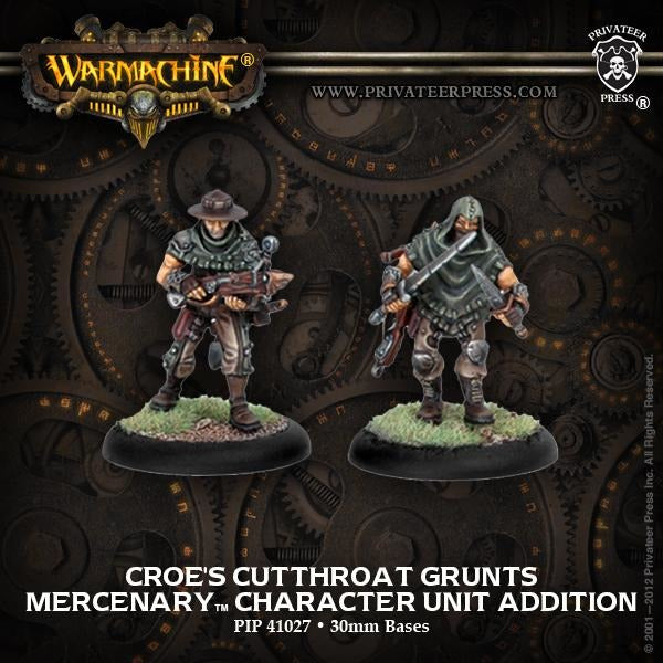 Warmachine: Mercenaries Croes Cutthroats Character Unit (2)