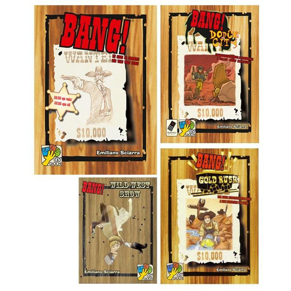 Bang! Bundle: Core Plus Dodge City / Wild West / Gold Rush Expansions
