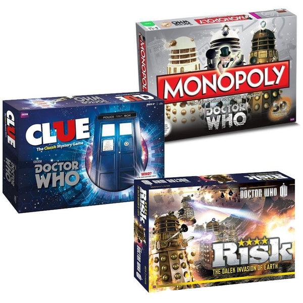 Doctor Who Bundle: Monopoly Risk and Clue