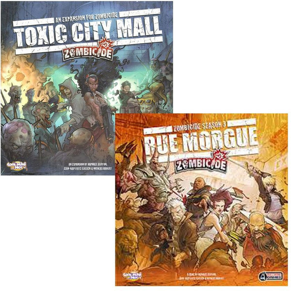 Zombicide Bundle: Toxic City Mall and Rue Morgue Expansion